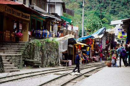 The town of Aguas Calientes